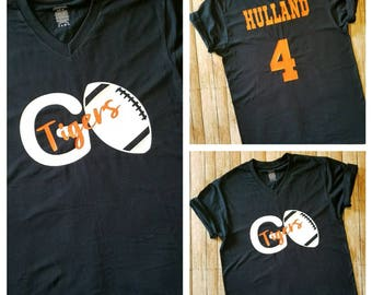 High school FOOTBALL!!! Support your favorite players! Go Team! Personalized name/team name and team colors!!