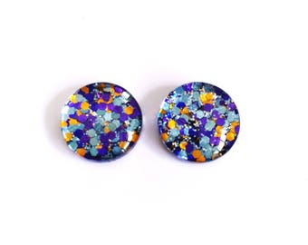 The 'Hummingbird' Glass Glitter Earring Studs