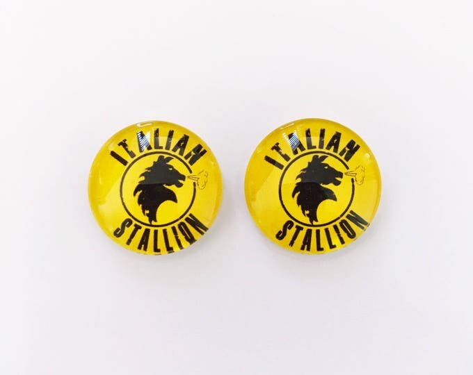 The 'Italian Stallion' Glass Earring Studs