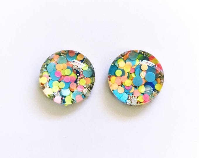 The 'Disco Diva' Glass Glitter Earring Studs