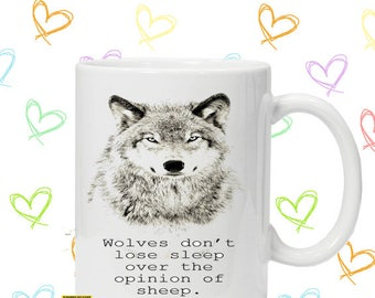 wolves motivational quote inspire mug christmas gift idea