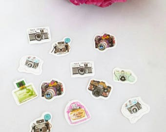 Camera Die Cut Stickers// Planner Stickers// Scrapbook Stickers// Travelers Notebook Stickers