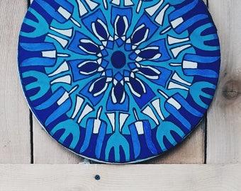 Mandala Painted on Silk