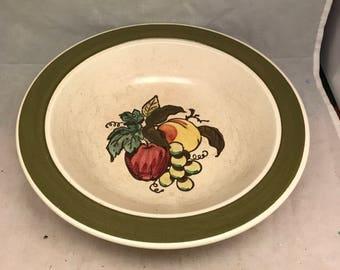 "Metlox Poppytrail China - Provincial Fruit Green - 10"" Round Vegetable Bowl"