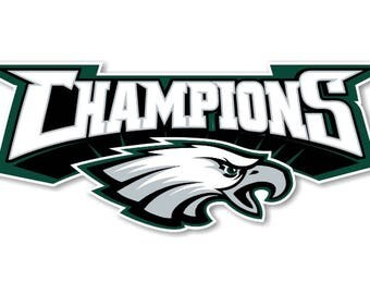 Philadelphia Eagles Super Bowl Champions Decal / Sticker Die cut