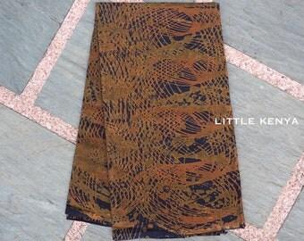 African fabric - Brown - Java - Ankara fabric - Tribal Clothing - Kitenge - DressMaking - Table Cloth - By Yards
