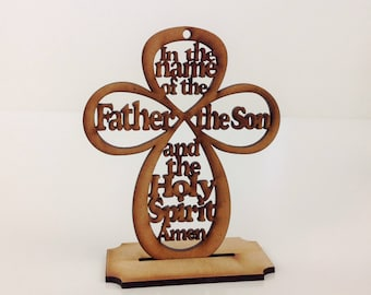 "3.75"" Mini Cross Our Father Prayer Baby Miniature Baptism Favors Christening Favors Free Shipping Bautizo Oracion Padre Nuestro Mini Cruz"