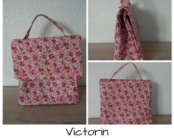 Signed Victorin Lola - lunch bag in cotton and insulated fabric