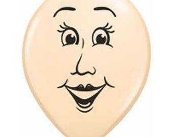 """Balloons Face 16"""", Women's Face Balloon 16"""", Men's Face Balloon 16""""  Set of 3"""
