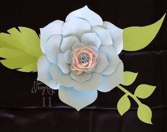 Paper Flower Template .PDF. Template #6