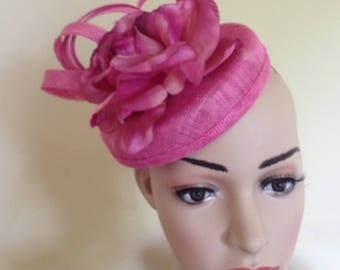 Lovely pink Pillbox Hat suitable for Weddings ,Ascot Race Hat ,Occasion Hat,Christening Hat
