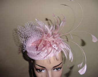 Pink Pillbox Hat.Wedding Hat.Ascot Race Hat.Occasion Hat.Pink Wedding Hat.Pink Ascot Race Hat.Pink Hat