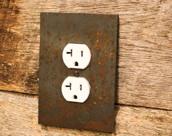 Steel Plate Rustic Outlet and Switch Covers