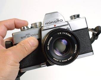 Minolta SRT 100X + MD Rokkor 50mm/2.0 fast lens, Serviced - Street Photography!