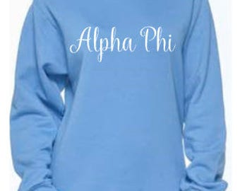 Alpha Phi Script Sweatshirt