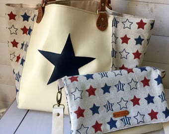 All Star linen shoulder bag Tote