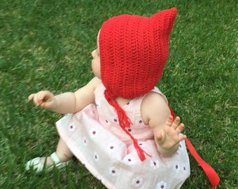 MADE TO ORDER - Crochet Pixie Bonnet Cotton Yarn