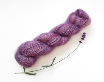 Purple Cloud Mohair and Silk Lace Weight Yarn 25g Skein