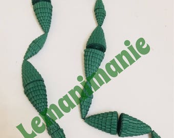 Green Paper Necklace