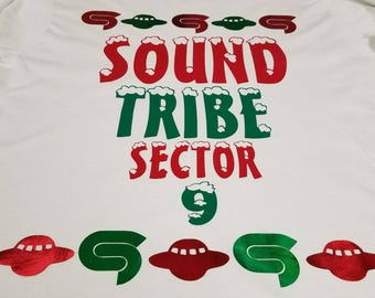 Limited edition STS9 holiday long sleeve tee and crew neck sweatshirt