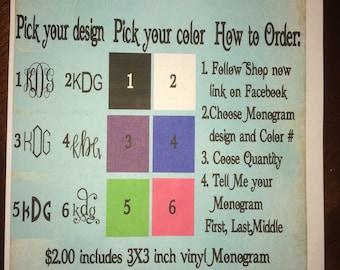 Back to school monogram sale