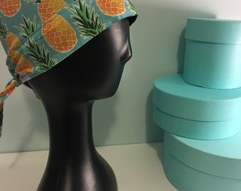 Reversible Pineapple Surgical Scrub Cap
