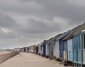Beach Huts A4 Size