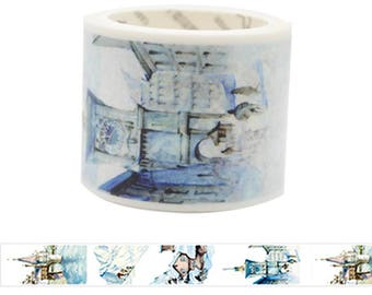 Travel Edition for Scrapbook - Country Washi Tape Series - Switzerland Watercolor Painting Washi Tape
