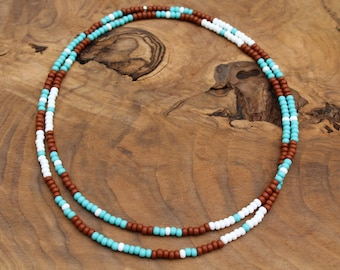 Long beaded necklace, endless necklace, layering necklace, seed bead necklace