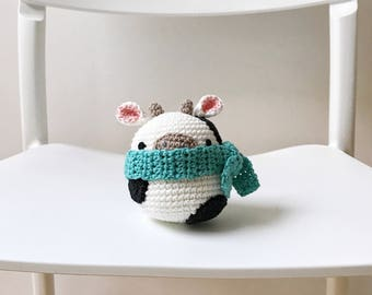COW crochet amigurumi, amigurumi cow, crochet cow, crochet toy, cow baby toy, cow kids toy, cow plushie, cow baby gift, cow kids gift