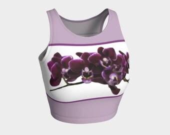 Purple Orchid Athletic Crop Top