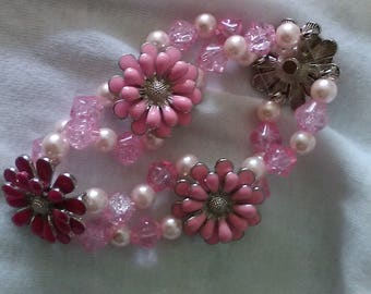 7' Pink and White Bracelet