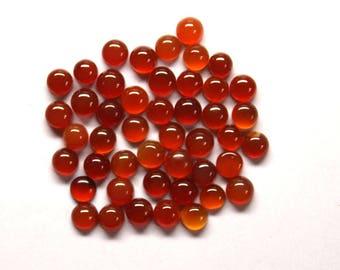 50 Pcs 17Cts. Wholesale Lot 100% Natural Red Onyx 4mm Round Jewelry Making Handmade Gemstone Smooth Cut Semi precious stone