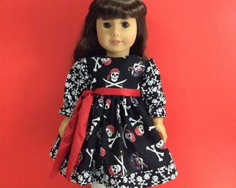 """Pirate fun dress fits 18"""" American girl dolls and dolls similar to size"""
