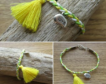 Braided bracelet Assemblage and French creation