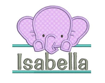Elephant Applique Design 6 sizes included.Machine embroidery design. Bear Embroidery design PES,Kid Embroidery, Border design,Applique