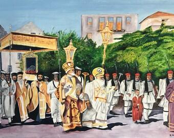 Greek Procession