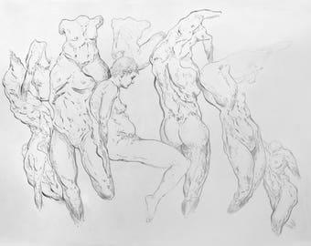 Life Model ~ Gesture Drawing | . b M p_005 |