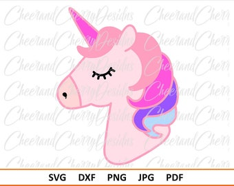 Unicorn SVG file Unicorn face svg Unicorn Birthday svg Unicorn Party Svg for Unicorn Head svg Unicorn DXF Unicorn Silhouette Svg for cricut
