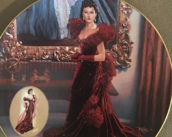 """1993 Gone With The Wind """" The Red Dress"""" collector plate"""