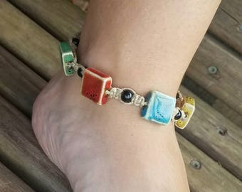 hemp anklet, beach jewelry, hippie ankle bracelet, gypsy anklet, boho anklet, beach anklets, summer anklets, teen girl gifts, hemp jewelry