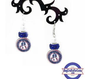 NEW ENGLAND Earrings with Sparkle Beads! +FREE SHIiPPiNG & Discounts*
