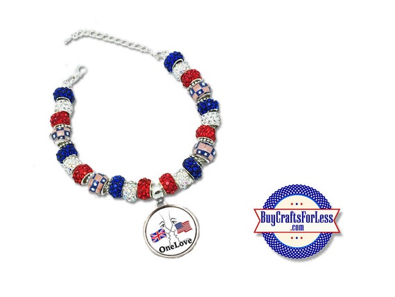 USA - UK Bracelet Face to Face - One Love - London - Manchester **FREE Shipping**