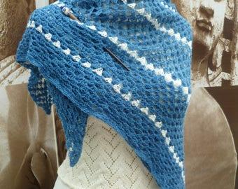 handmade square crochet scarf
