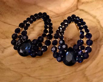 Royal Blue Statment Earrings