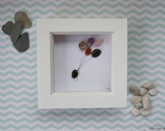 Congratulations Gift, Birthday Gift, Leaving Gift, Pebble Art, Retirement Gift, Well Done Gift, Small Frame, Keepsake Gift, Rebecca Kate