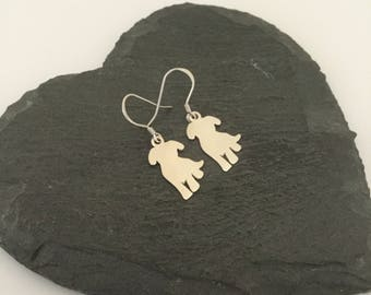 Sterling Silver dog earrings / dog jewellery / dog lover gift / pet jewellery / animal jewellery / animal lover gift