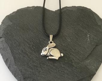 Children's bunny rabbit necklace / children's animal jewellery / children's jewellery / children's gift