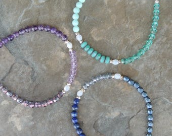 Dainty Delicate Bracelet, Dainty Bracelet, Everyday Bracelet, Colorful Bracelet, Simple Bracelet, Gemstone Bracelet, Gift for Her