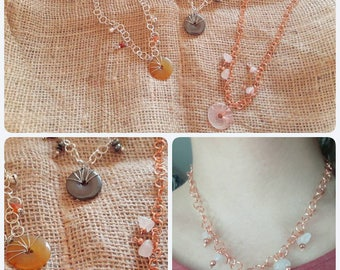 Donut necklace stone hard-necklace with gemstone Donuts